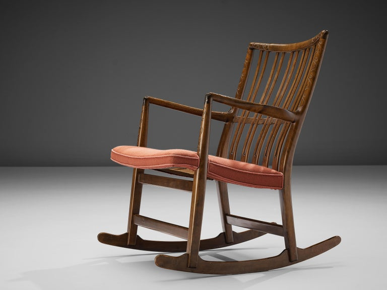 Scandinavian Modern Hans Wegner Pair of Early 'ML-33' Rocking Chairs For Sale