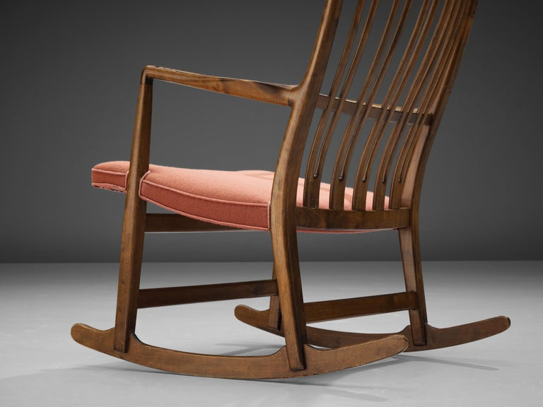 Mid-20th Century Hans Wegner Pair of Early 'ML-33' Rocking Chairs For Sale