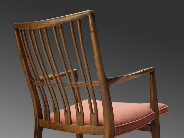 Fabric Hans Wegner Pair of Early 'ML-33' Rocking Chairs For Sale