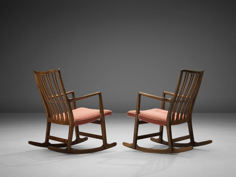 Hans Wegner Pair of Early 'ML-33' Rocking Chairs For Sale 1