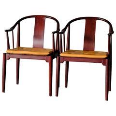 "Hans Wegner, Pair of mahogany ""China Chairs"""