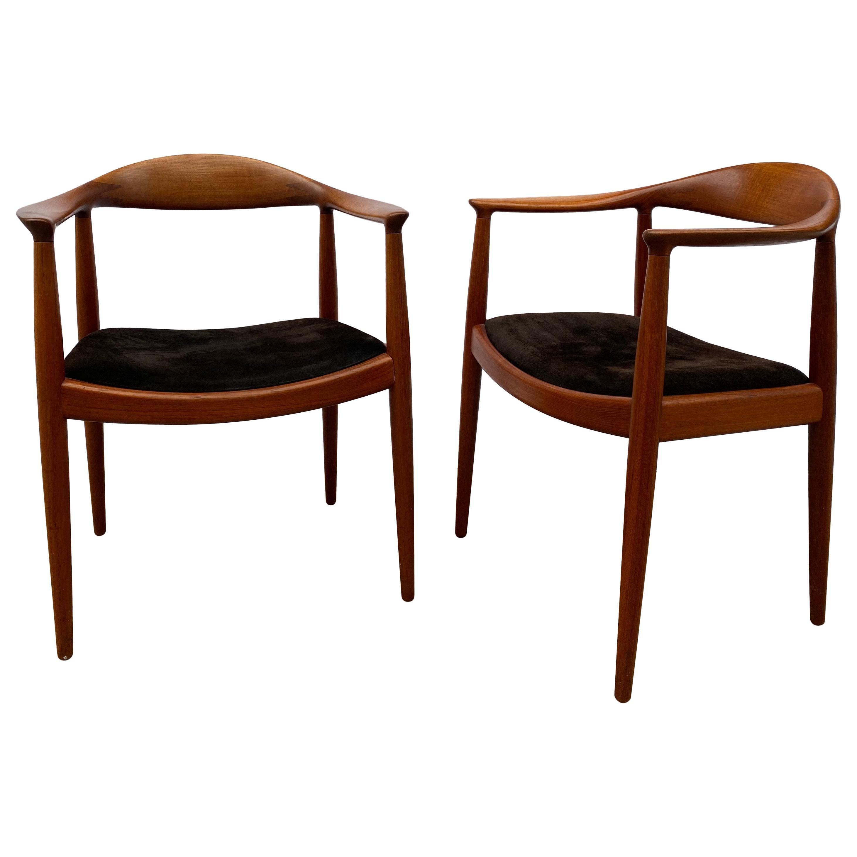 "Hans Wegner Pair of Round Chairs/ ""The Chair"" for Johannes Hansen"