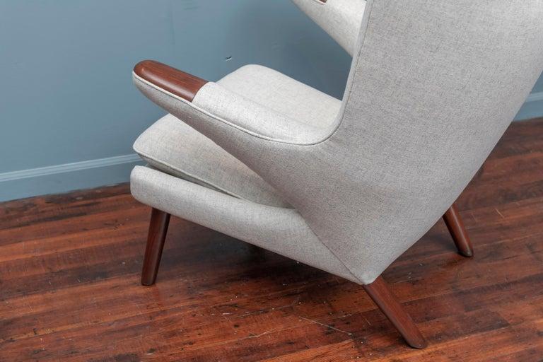 Hans Wegner Papa Bear Chair and Ottoman for A.P Stolen For Sale 3