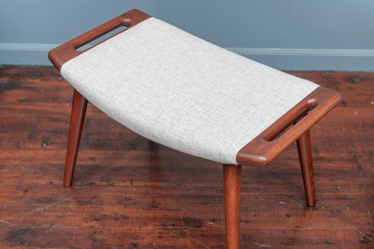 Scandinavian Modern Hans Wegner Papa Bear Chair and Ottoman for A.P Stolen For Sale