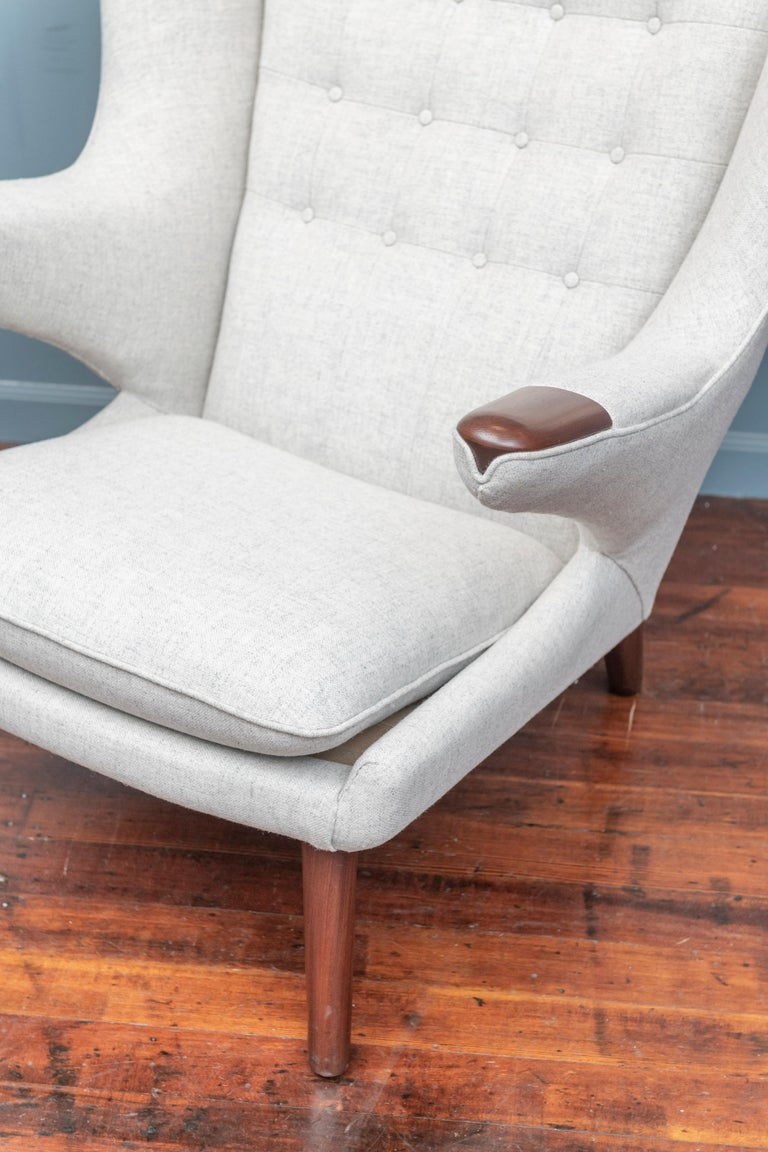 Mid-20th Century Hans Wegner Papa Bear Chair and Ottoman for A.P Stolen For Sale