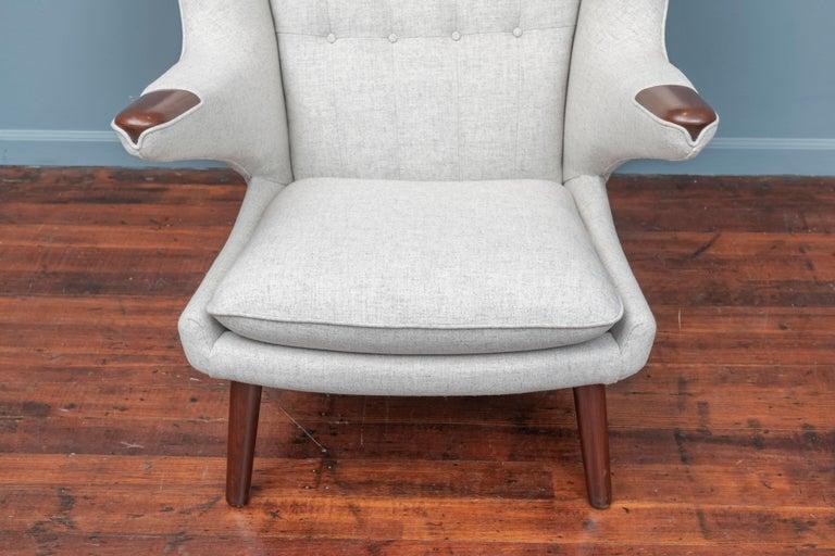 Hans Wegner Papa Bear Chair and Ottoman for A.P Stolen For Sale 1