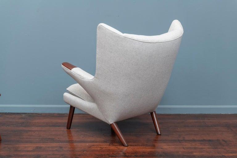 Hans Wegner Papa Bear Chair and Ottoman for A.P Stolen For Sale 2