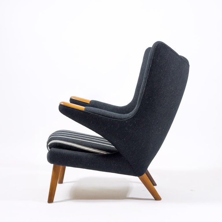 Scandinavian Modern Hans Wegner Papa Bear Chair, First Edition For Sale