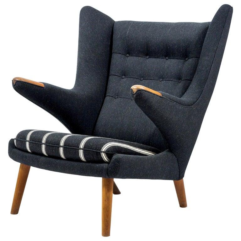 Hans Wegner Papa Bear Chair, First Edition For Sale