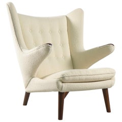 Hans Wegner Papa Bear Chair in white Boucle, 1951, AP Stolen, Denmark