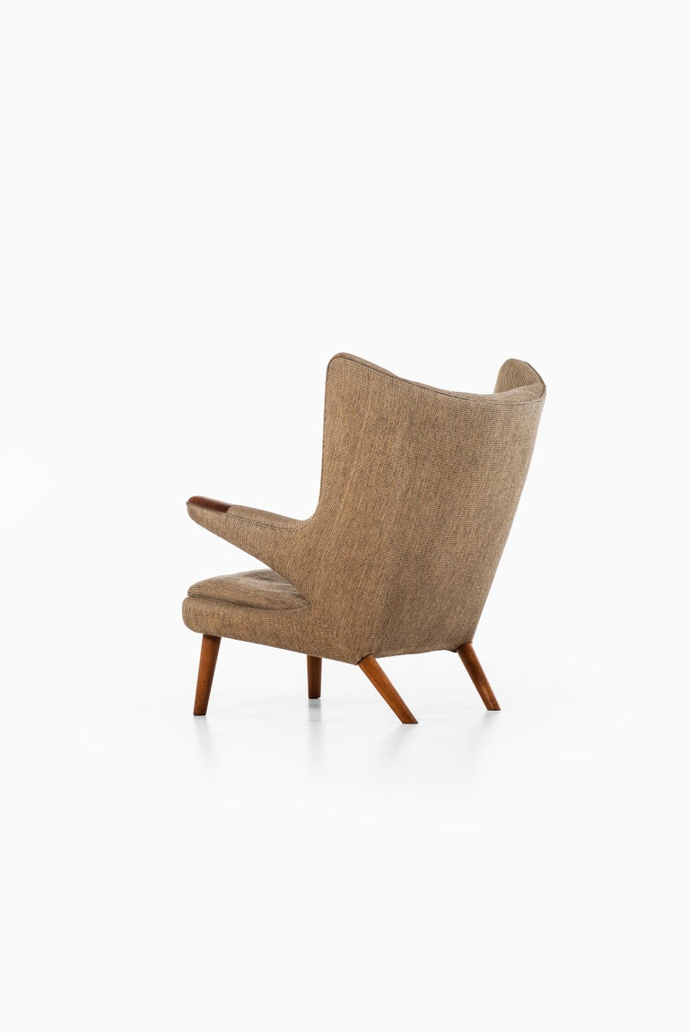 Mid-20th Century Hans Wegner Papa Bear Easy Chair Produced by A.P. Stolen in Denmark