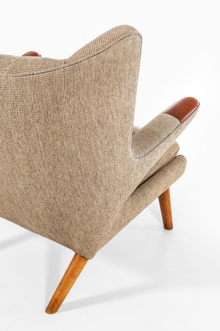 Fabric Hans Wegner Papa Bear Easy Chair Produced by A.P. Stolen in Denmark