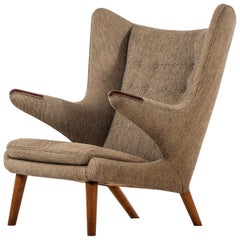 Hans Wegner Papa Bear Easy Chair Produced by A.P. Stolen in Denmark