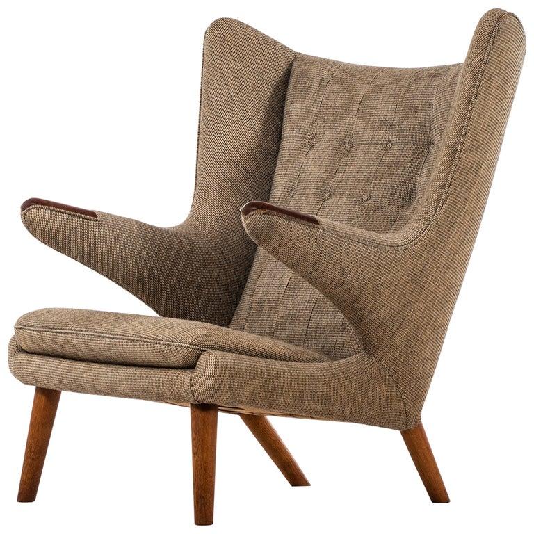Hans Wegner Papa Bear Easy Chair Produced by A.P. Stolen in Denmark