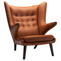 "Hans Wegner ""Papa Bear"" in Cognac Leather, Denmark, 1951"