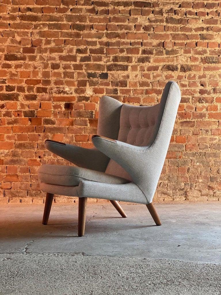 Mid-Century Modern Hans Wegner Papa Bear Lounge Chair Bamsestol Model AP19, Denmark, 1959 For Sale