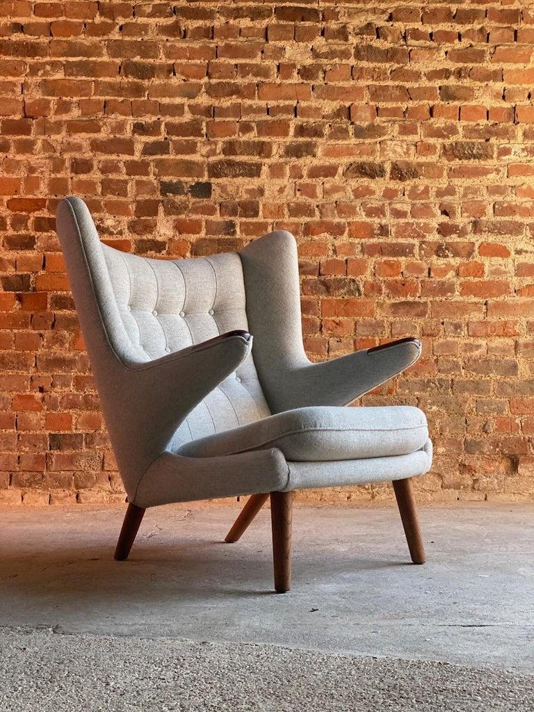 20th Century Hans Wegner Papa Bear Lounge Chair Bamsestol Model AP19, Denmark, 1959 For Sale