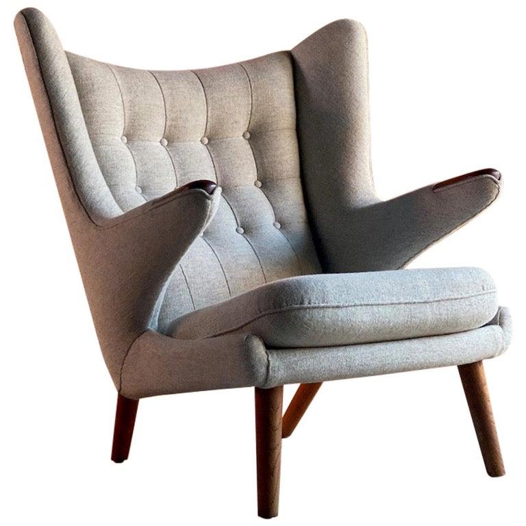 Hans Wegner Papa Bear Lounge Chair Bamsestol Model AP19, Denmark, 1959 For Sale