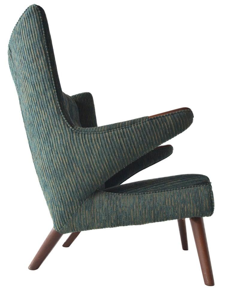 Mid-Century Modern Hans Wegner Papa Bear Lounge Chair For Sale