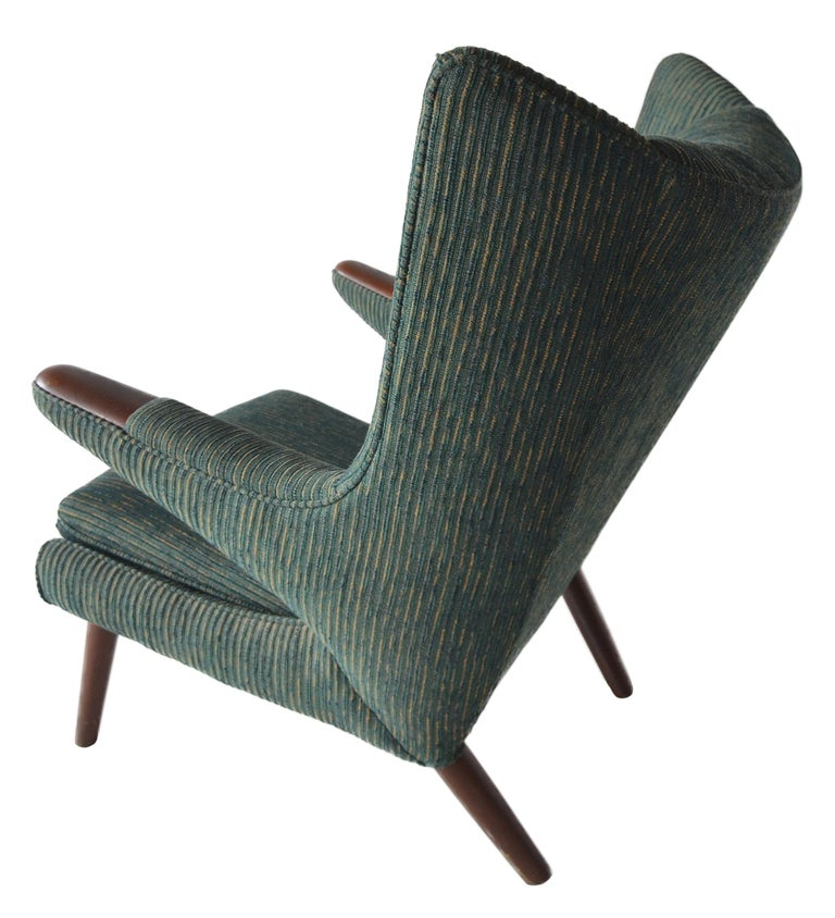 Hans Wegner Papa Bear Lounge Chair In Good Condition For Sale In Brooklyn/Toronto, Ontario