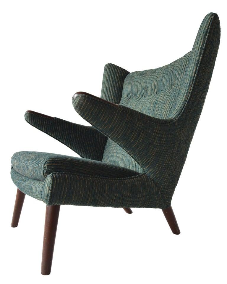 Mid-20th Century Hans Wegner Papa Bear Lounge Chair For Sale
