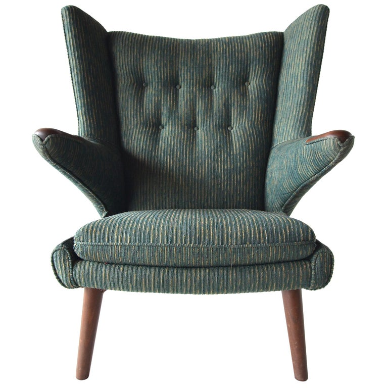 Hans Wegner Papa Bear Lounge Chair For Sale
