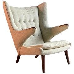 Hans Wegner Papa Bear Lounge Chair Model AP19, Denmark, circa 1960s