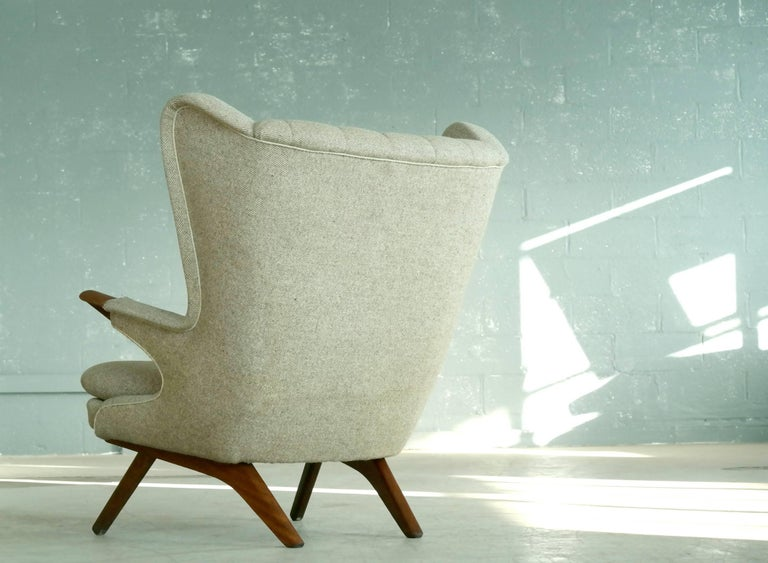 Wool Papa Bear Lounge Chair Model 91 by Sven Skipper, 1960s For Sale