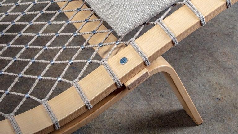 Oak Hans Wegner PP135 Model Hammock Lounge Chair