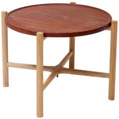 Hans Wegner PP35 Oak and Teak Folding Table, PP Møbler, Denmark