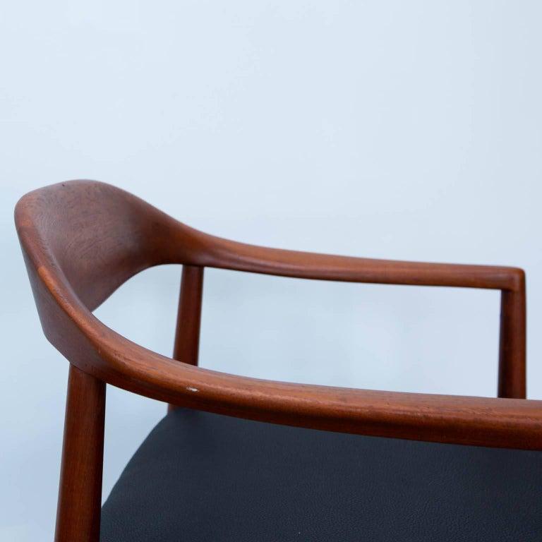 Danish Hans Wegner Round Chair Style Teak Armchair For Sale