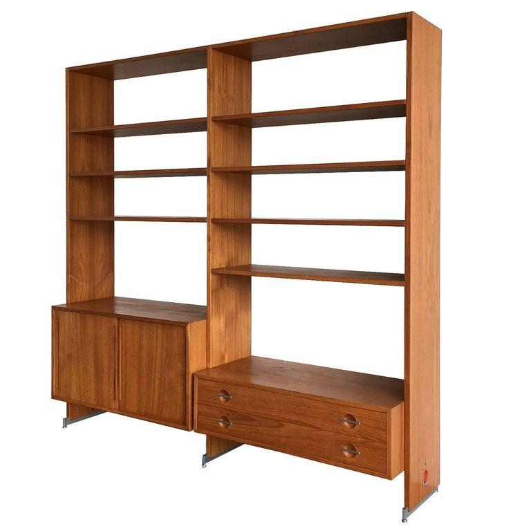 Teak Bookcase Stereo System By Hans J. Wegner, RY-100