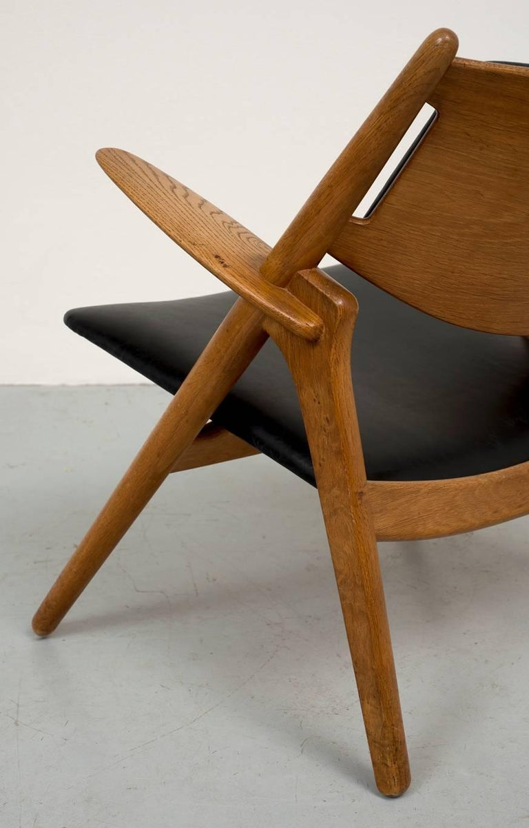 Hans Wegner Sawbuck Chair In Good Condition For Sale In Santa Fe, NM