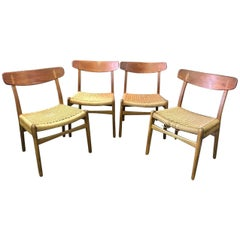 Hans Wegner Set of Four Classic CH23 Dining Chairs