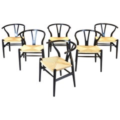 "Hans Wegner, Set of Six ""Wishbone"" Chairs, 1960s"
