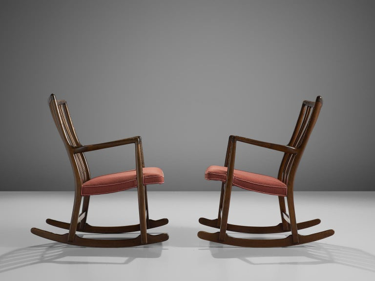 Danish Hans Wegner Set of Two Early 'ML-33' Rocking Chairs For Sale