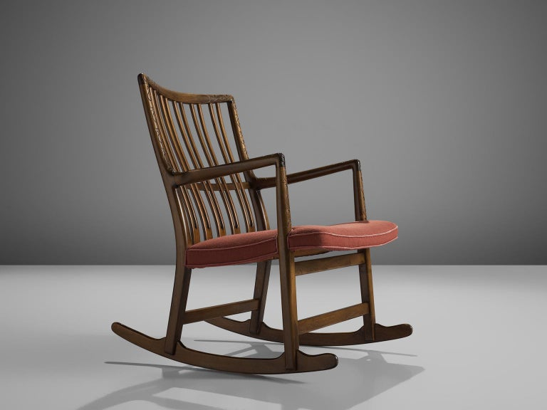 Mid-20th Century Hans Wegner Set of Two Early 'ML-33' Rocking Chairs For Sale