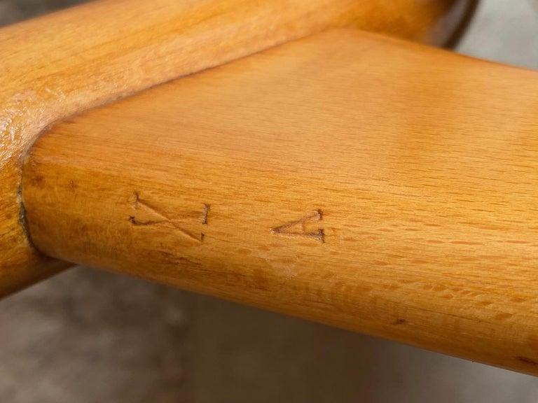 Hans Wegner Shell Chair Model FH 1936 for Fritz Hansen Midcentury Danish, 1950 For Sale 5