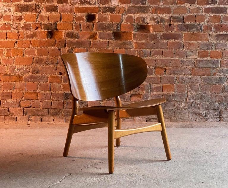 Mid-Century Modern Hans Wegner Shell Chair Model FH 1936 for Fritz Hansen Midcentury Danish, 1950 For Sale