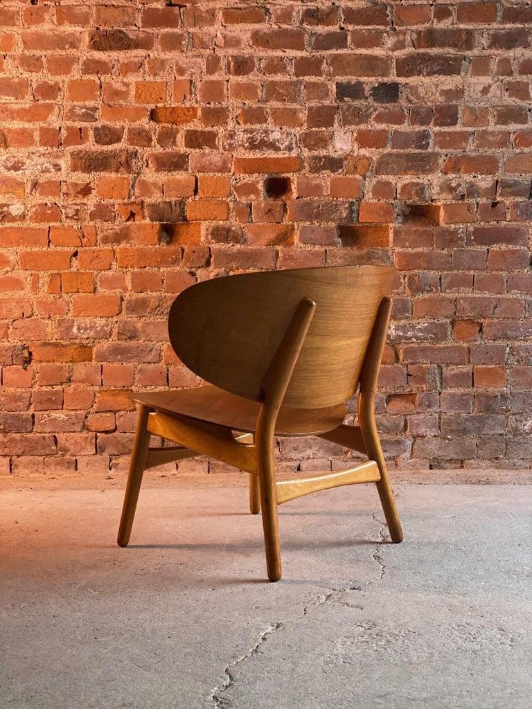 20th Century Hans Wegner Shell Chair Model FH 1936 for Fritz Hansen Midcentury Danish, 1950 For Sale