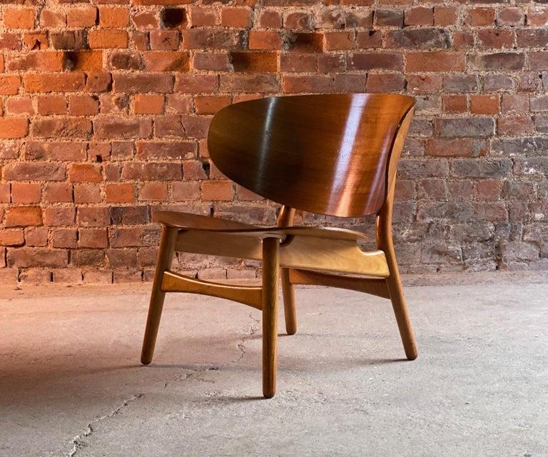 Beech Hans Wegner Shell Chair Model FH 1936 for Fritz Hansen Midcentury Danish, 1950 For Sale
