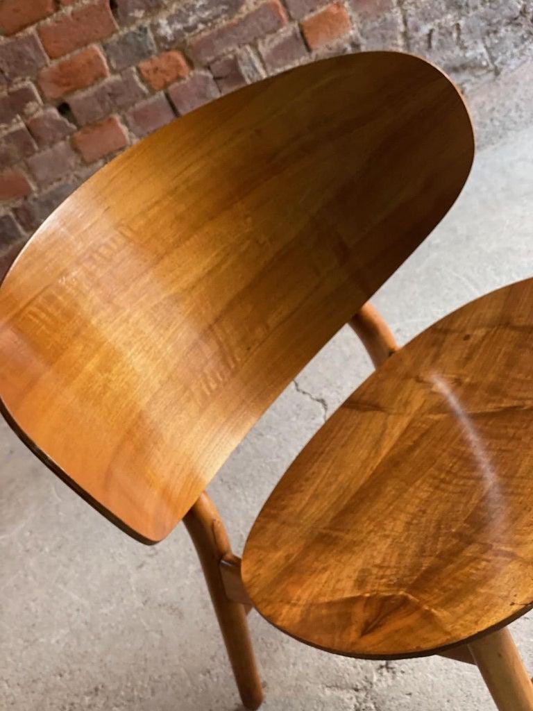 Hans Wegner Shell Chair Model FH 1936 for Fritz Hansen Midcentury Danish, 1950 For Sale 3