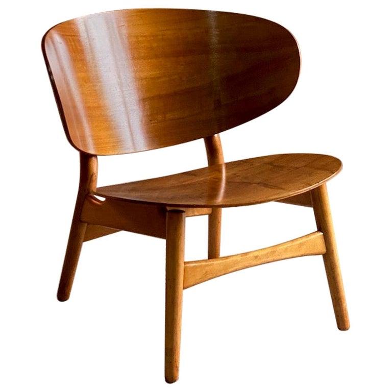 Hans Wegner Shell Chair Model FH 1936 for Fritz Hansen Midcentury Danish, 1950 For Sale