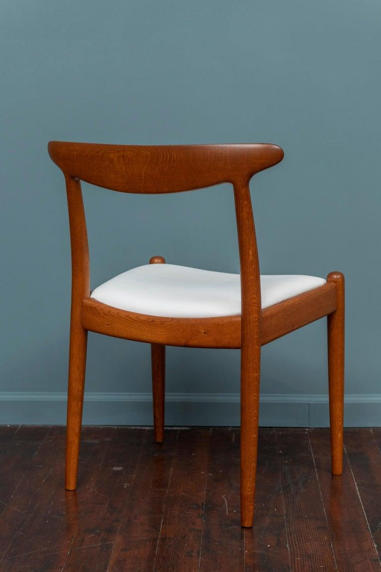 Oak Hans Wegner Side Chair for Johannes Hansen For Sale