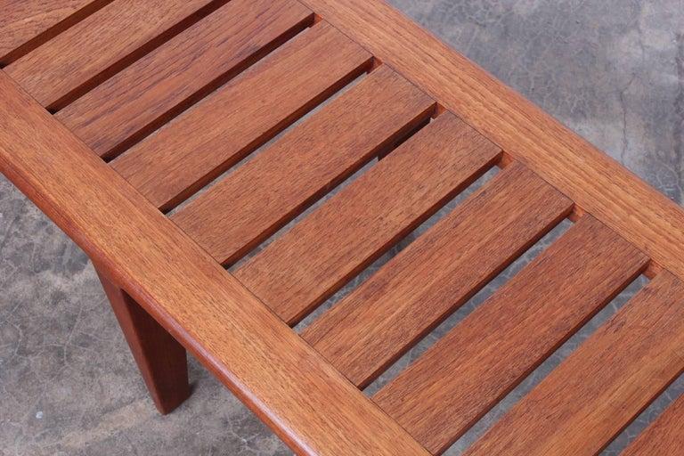 Hans Wegner Slatted Bench for Johannes Hansen For Sale 6