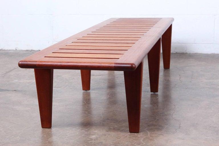 Hans Wegner Slatted Bench for Johannes Hansen For Sale 7
