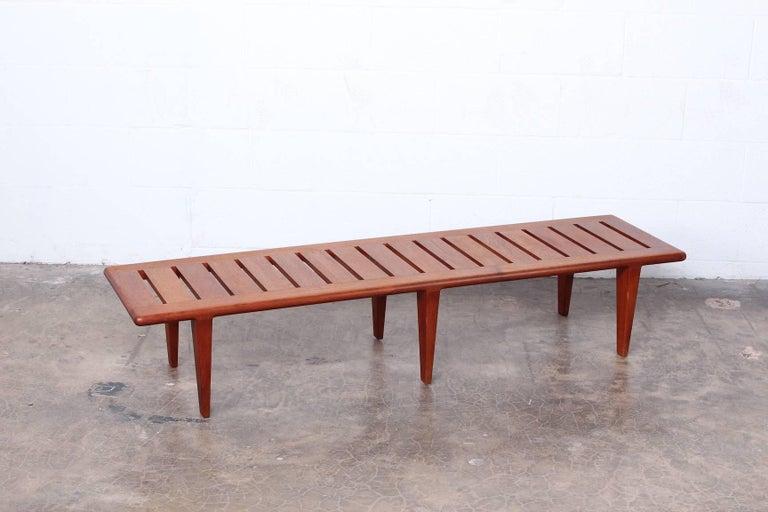 Hans Wegner Slatted Bench for Johannes Hansen For Sale 8