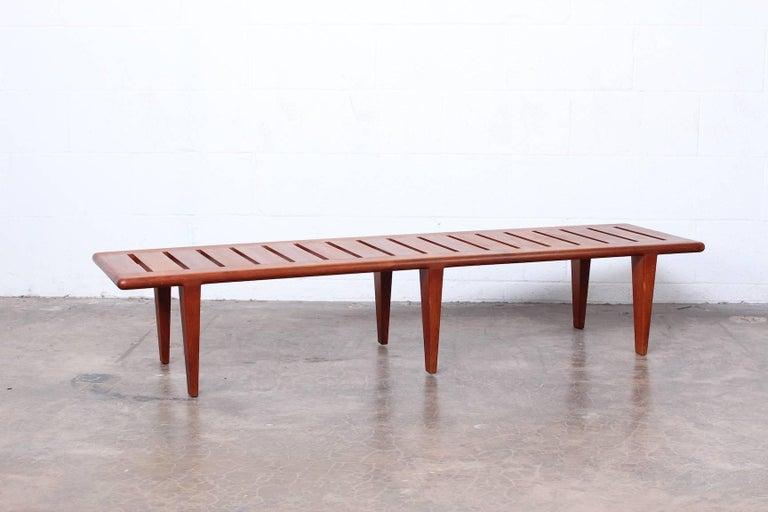 Hans Wegner Slatted Bench for Johannes Hansen For Sale 9