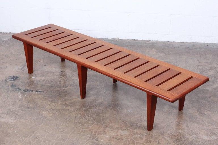 Hans Wegner Slatted Bench for Johannes Hansen For Sale 2