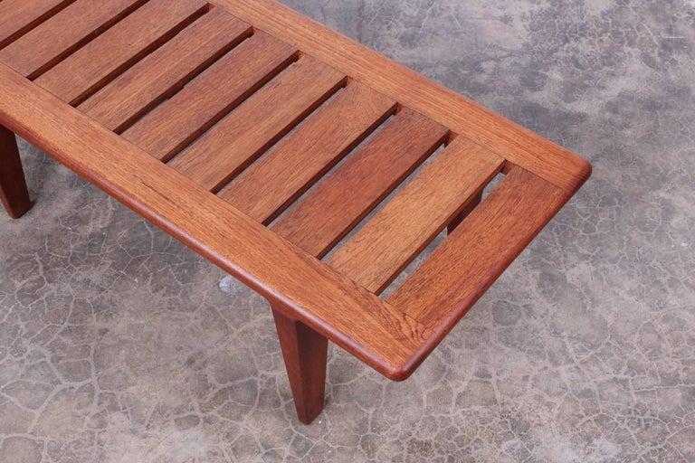 Hans Wegner Slatted Bench for Johannes Hansen For Sale 4